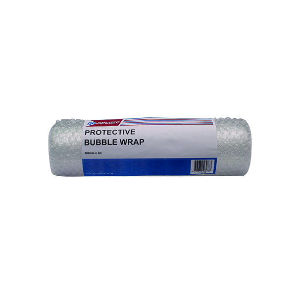 Go Secure Bubble Wrap Roll Small 300mmx3m Clear (16 Pack) PB02288