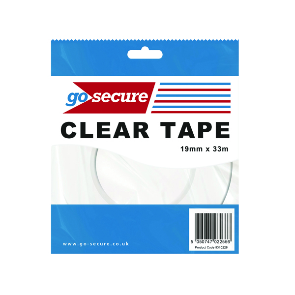 Go Secure Small Tape 19mmx33m (12 Pack) PB02298