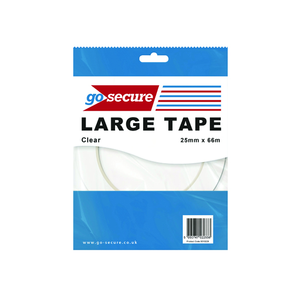 Go Secure Large Tape 25mmx66m (24 Pack) PB02299