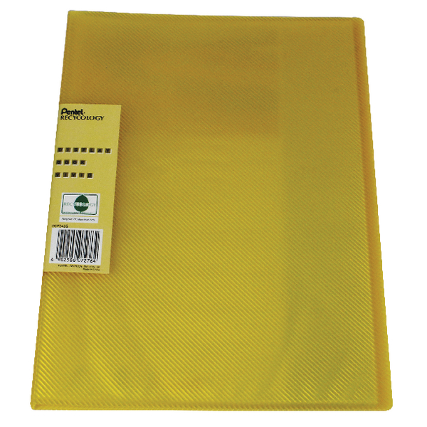 Pentel Recycology Vivid 30 Pocket Yellow Display Book (10 Pack) DCF343G