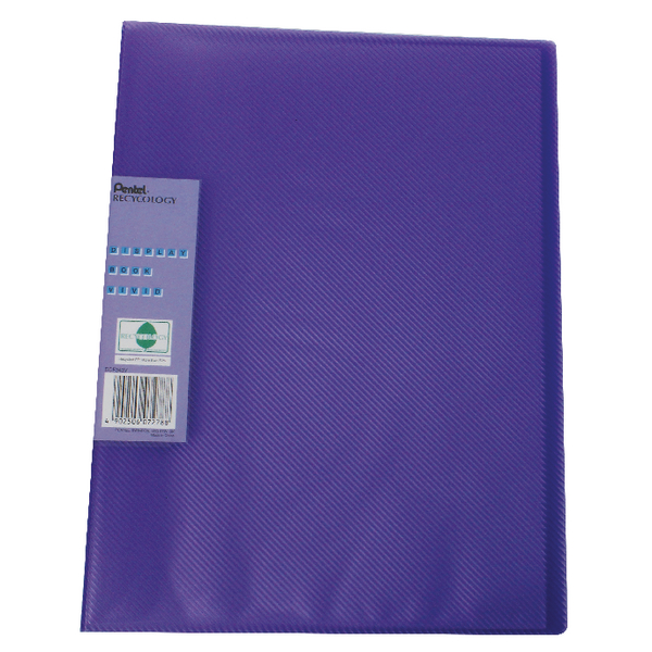 Pentel Recycology Vivid 30 Pocket Violet Display Book (10 Pack) DCF343V