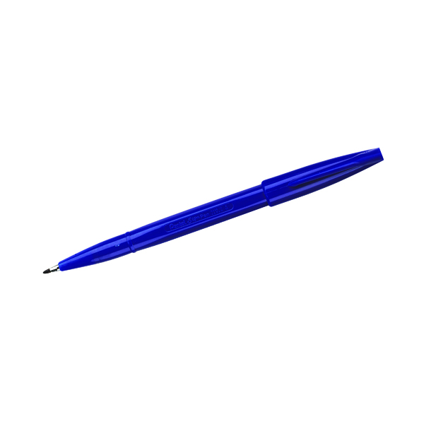 Pentel Fibre Tip Blue Sign Pen (12 Pack) S520-C