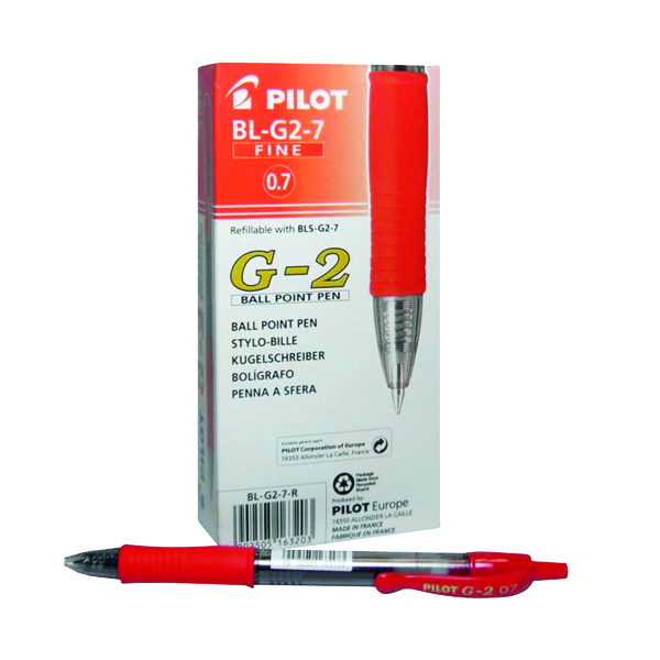 Pilot G207 Retractable Gel Red Pen (12 Pack) G2 Red