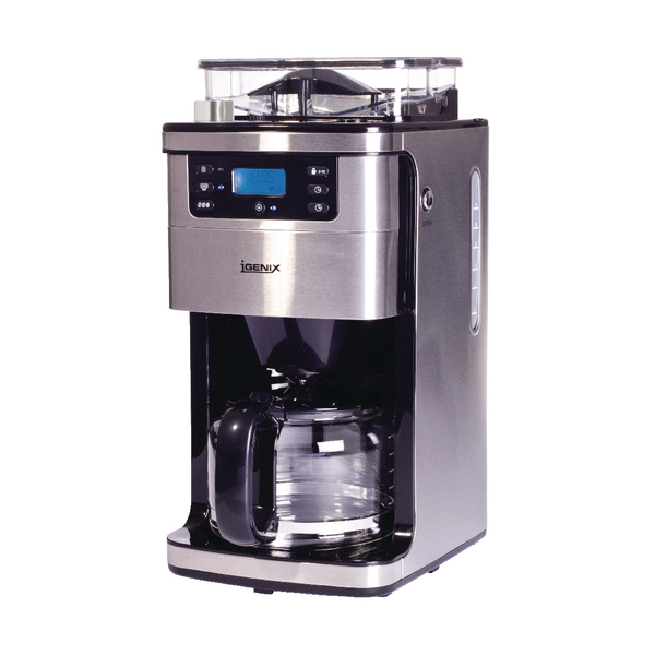 Bean to Cup - 12 Cup Silver Coffee Machine IG8225