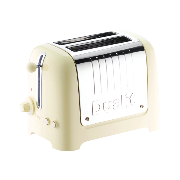 Dualit 2 Slice High Gloss Lite Toaster Cream DA2622