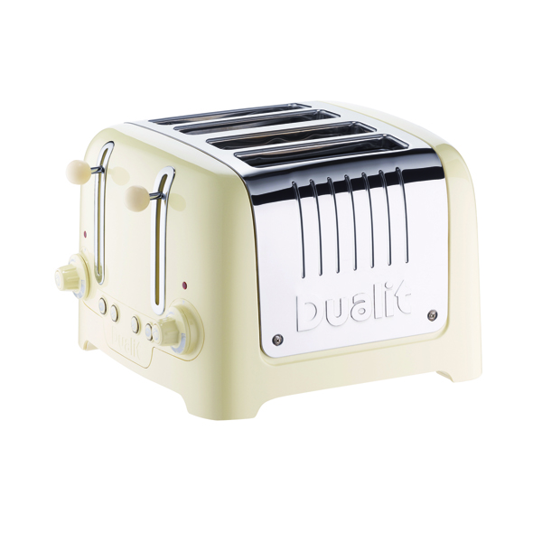 Dualit 4 Slice High Gloss Lite Toaster Cream DA6202