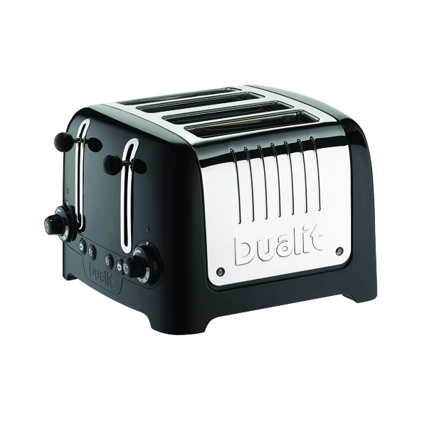 Dualit 4 Slice High Gloss Lite Toaster Black DA6205