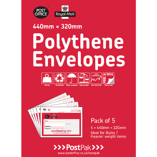 Polythene 440x320 Envelopes (20 Pack) 101-3485