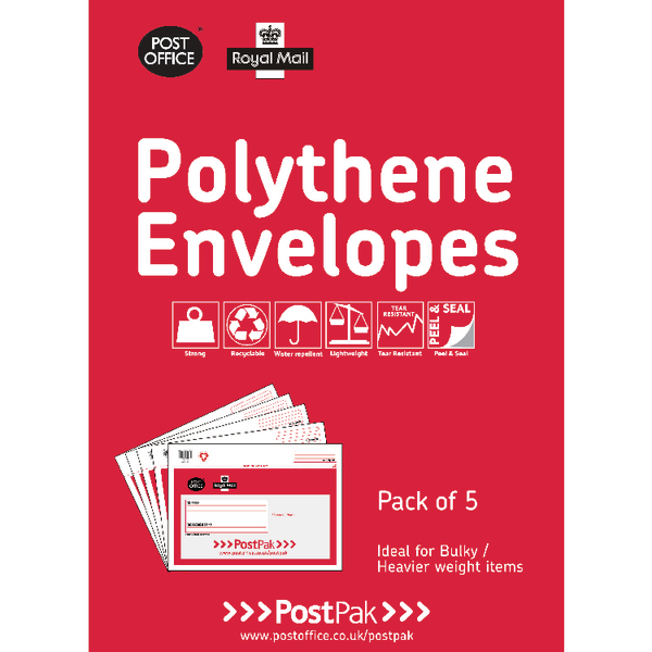 Polythene Envelopes Assorted Sizes 101-3558