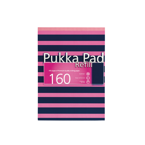 Pukka Navy A4 Refill Pad 160 Pages Navy/Pink (6 Pack) 6678-NVY