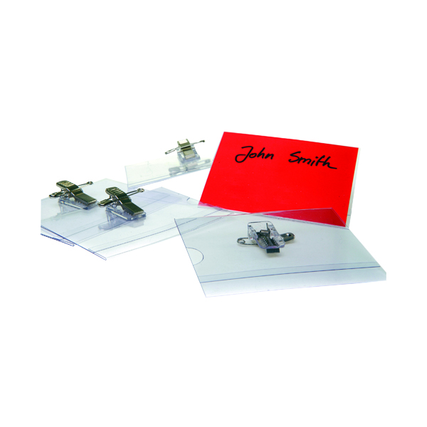 Announce Combi Clip Name Badge 54x90mm (50 Pack) PV00918