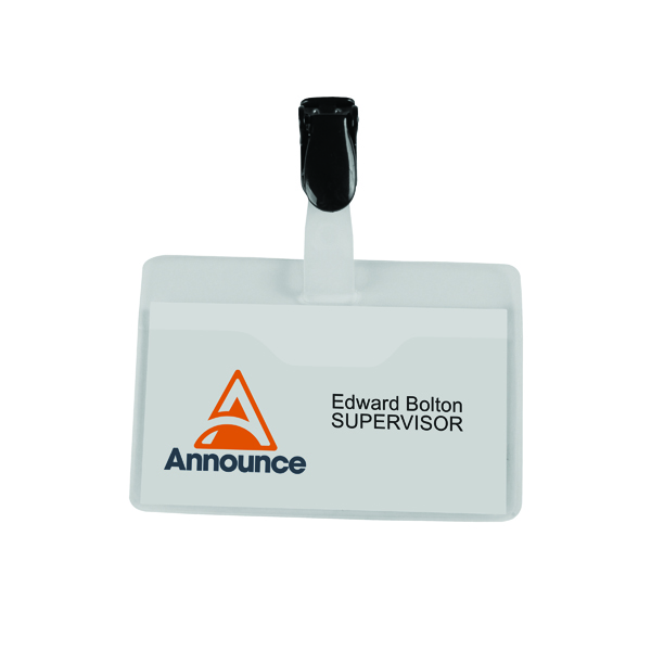 Announce Visitor Name Badge 60x90mm (25 Pack) PV00921