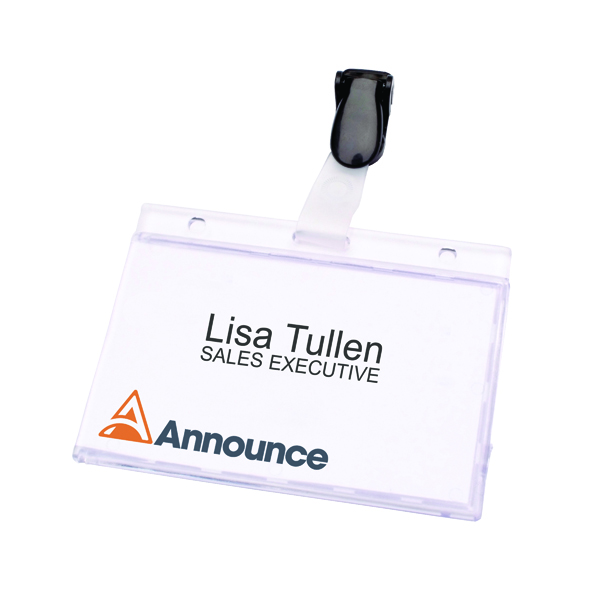 Announce Security Pass Holder 60x90mm (25 Pack) PV00925