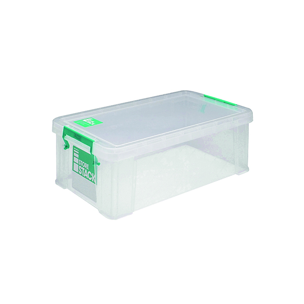StoreStack Clear 7.5 Litre Storage Box W250 x D190 x H160mm RB00817