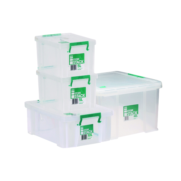 Storestack Box Bundle 2x5L 10L 48L (4 Pack) 48LBUNDLE