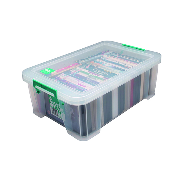 StoreStack 15 Litre Clear W300xD470xH170mm Store Box RB11085