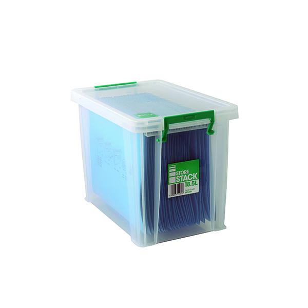 StoreStack 18.5 Litre Box Clear W400 x D260 x H290mm RB11086