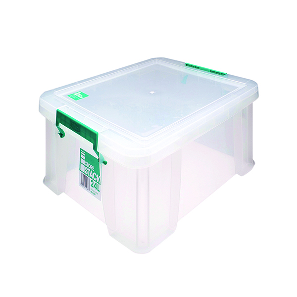 StoreStack 24 Litre Clear W480xD380xH190mm Store Box RB11087