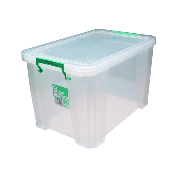 StoreStack 26 Litre Clear W470xD300xH290mm Store Box RB11088