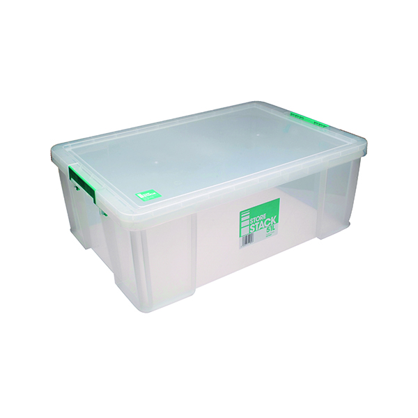 StoreStack 51 Litre Clear W660xD440xH230mm Store Box RB11089