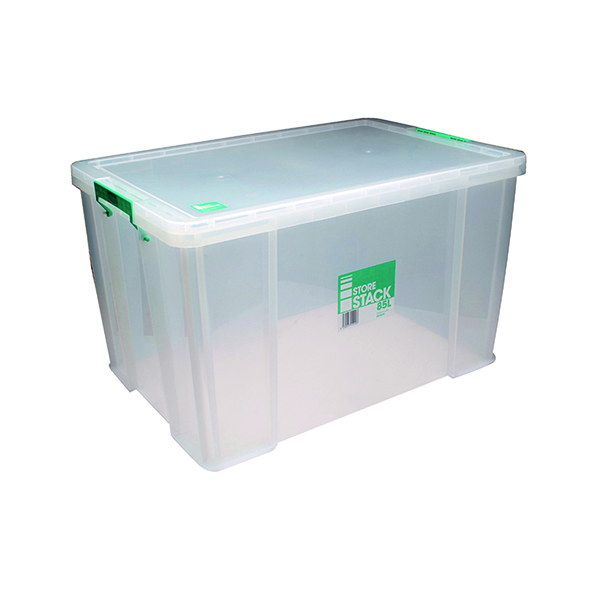 StoreStack 85 Litre Clear W660xD440xH390mm Store Box RB11090