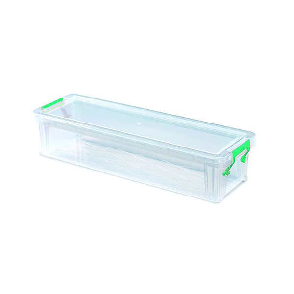 StoreStack 2.2 Litre Storage Box W370xD110xH80mm Clear RB75896