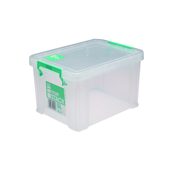StoreStack 5 Litre Clear W260xD190xH150mm Store Box RB90120