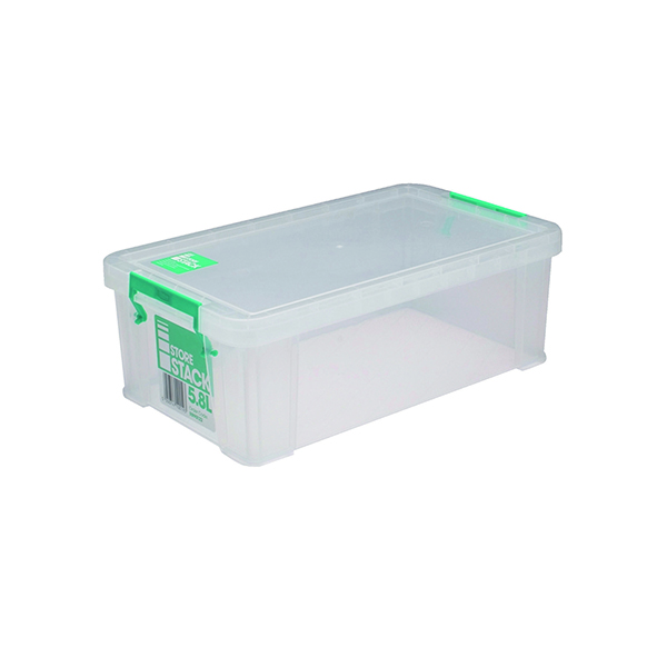 StoreStack 5.8 Litre Box Clear W350 x D190 x H120mm RB90122
