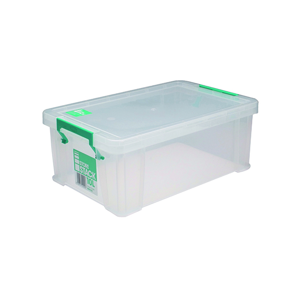 StoreStack 10 Litre Clear W400xD255xH150mm Store Box RB90123