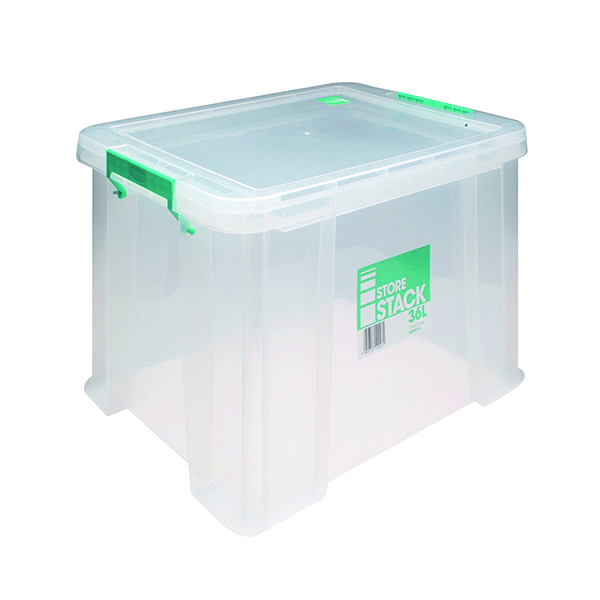 StoreStack 36 Litre Clear W480xD380xH320mm Store Box RB90124