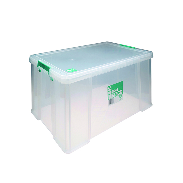 StoreStack 70 Litre Clear W660xD450xH320mm Store Box RB90126