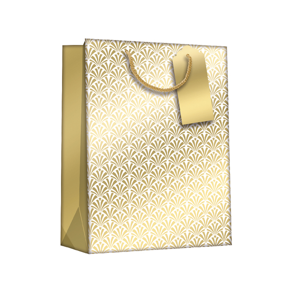 Gift Bags Gold Art Deco Large (6 Pack) Z729L