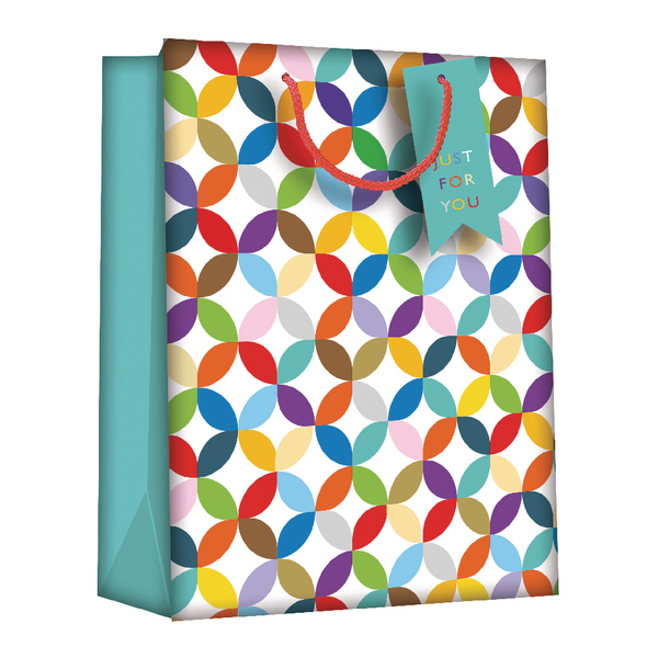 Regent Gift Bags Bright Link Geometric Medium (6 Pack) Z730M