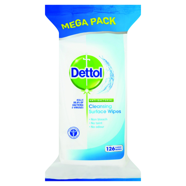 Dettol Antibacterial Surface Cleanser Wipes (126 Pack) 3011051