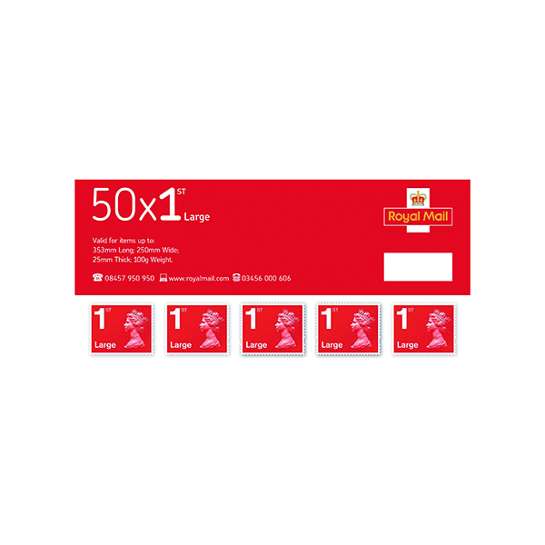 First Class Large Letter Postage Stamps (50 Pack) SLDN1