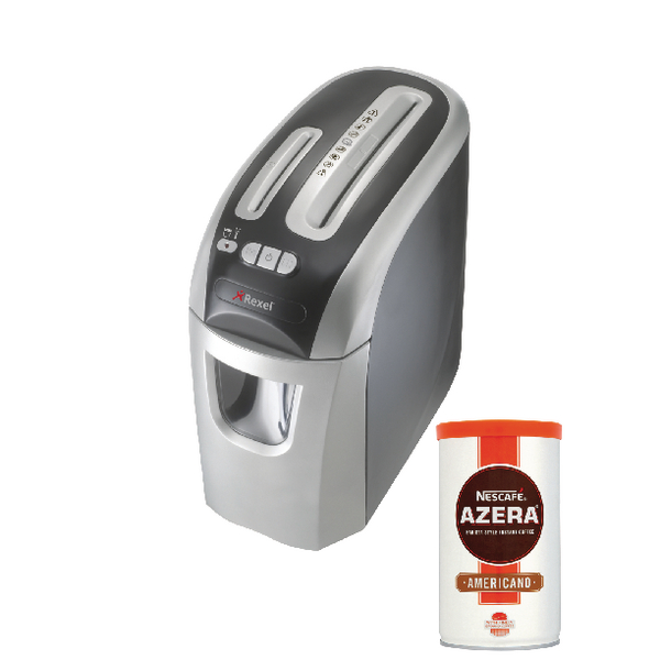 Rexel Pro Style+ 12 Cross Cut Shredder (Pack of 1) with FOC Nescafe Azera 100g RM810097