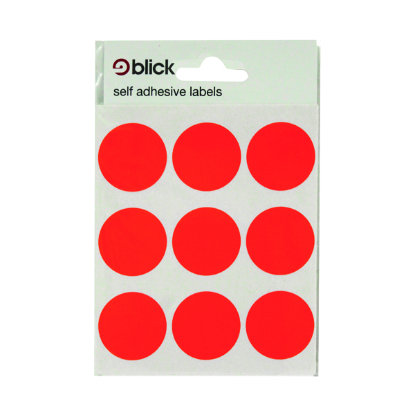 Blick Red Coloured Labels in Bags Round 29mm (720 Pack) RS005155