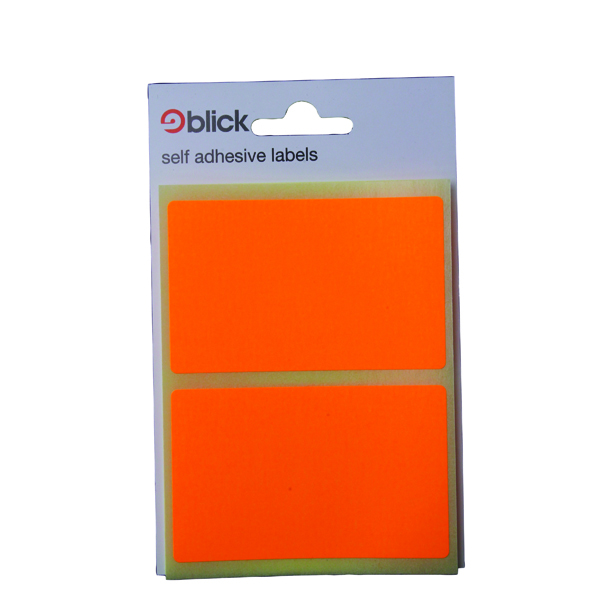 Blick Orange Fluorescent Labels in Bags 50x80mm (160 Pack) RS010852