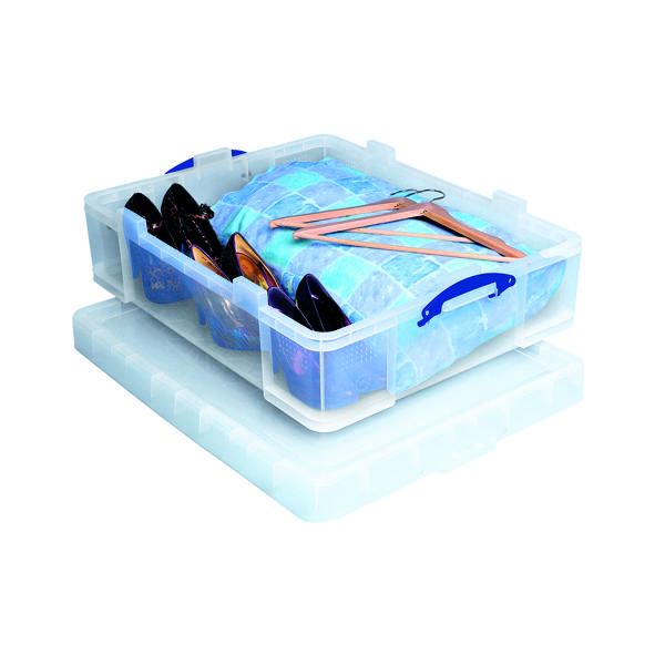 Really Useful 70L Plastic Storage Box W810xD620xH275mm Clear 70C