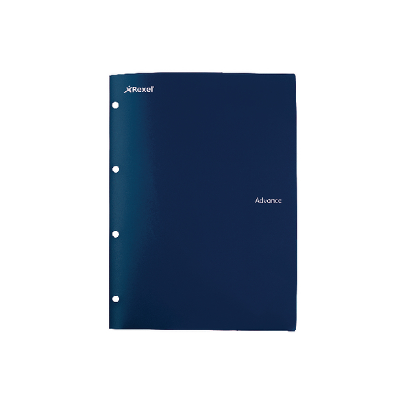 Rexel Advanced 4 Hole A4 Folder & File Navy (Pack of 5) 2103761