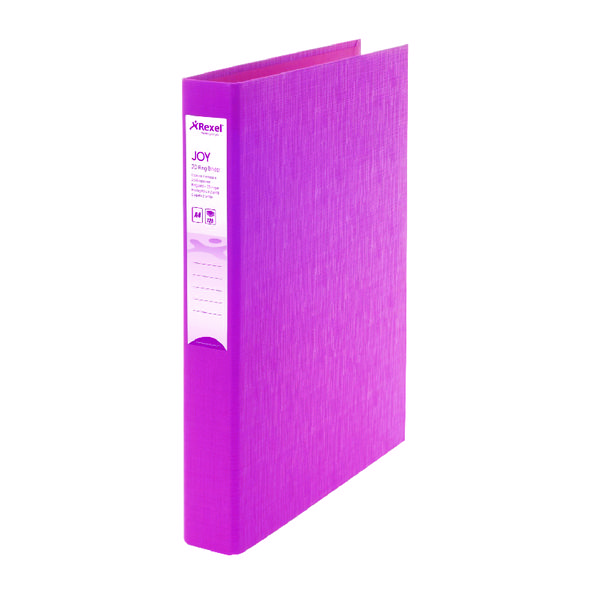 Rexel Joy A4 Pink Ring Binder (6 Pack) 2104002