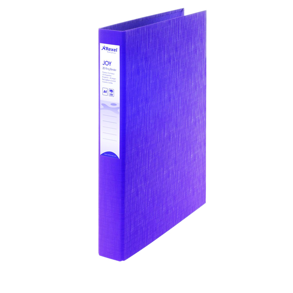 Rexel JOY Ring A4 Binder Purple (6 Pack) 2104006