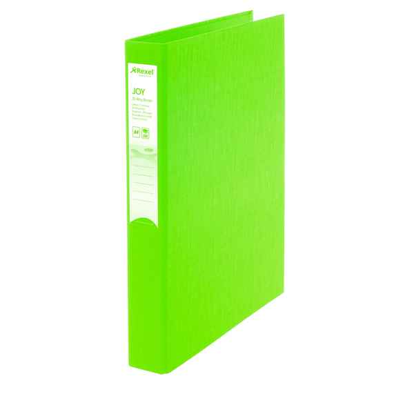 Rexel Joy A4 Lime Ring Binder (6 Pack) 2104008