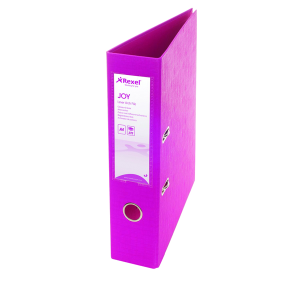 Rexel JOY Pink A4 Lever Arch File (6 Pack) 2104009