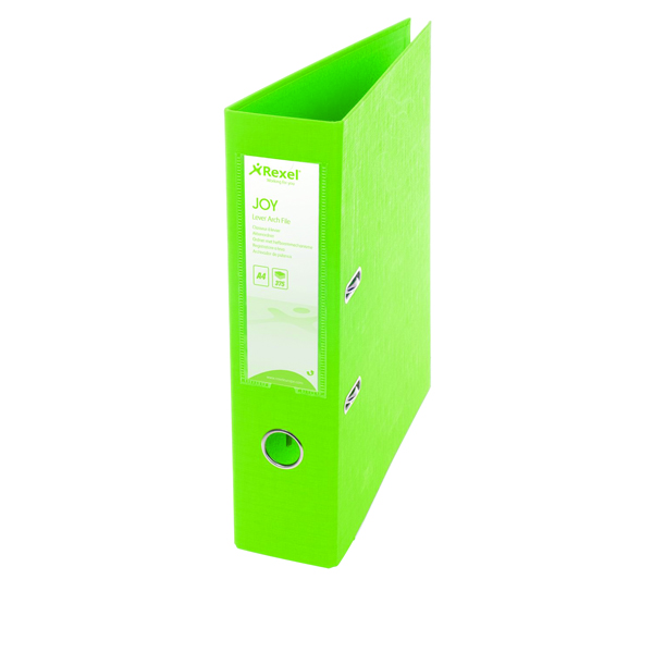 Rexel JOY Lime A4 Lever Arch File (6 Pack) 2104013