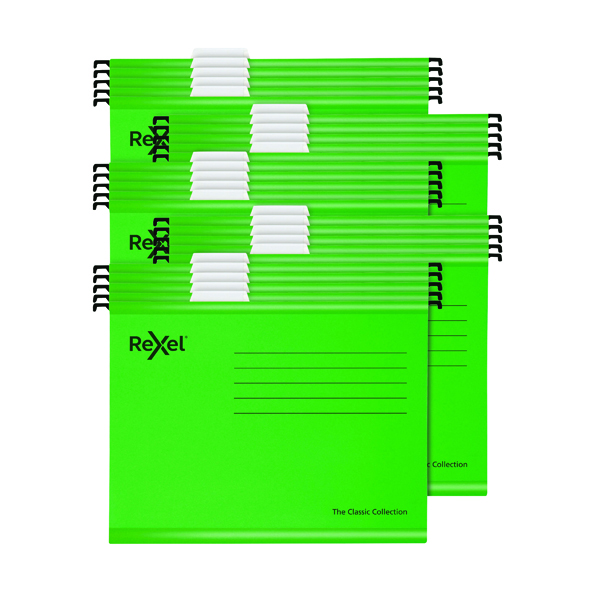 Rexel Classic Suspension Files A4 Green (25 Pack) 2115586