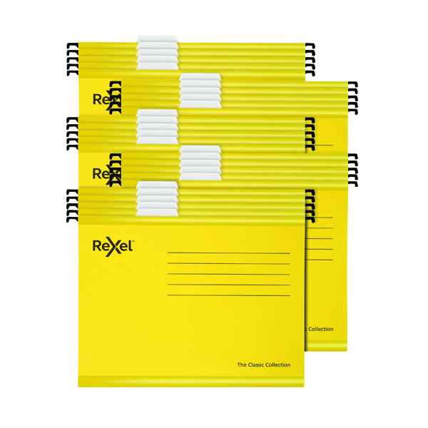 Rexel  Classic Suspension Files A4  Yellow (25 Pack) 2115588