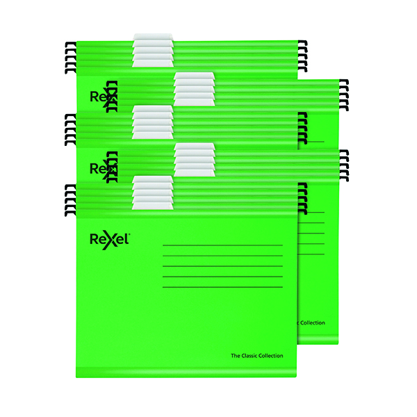 Rexel  Classic Suspension Files Foolscap Green (25 Pack) 2115591