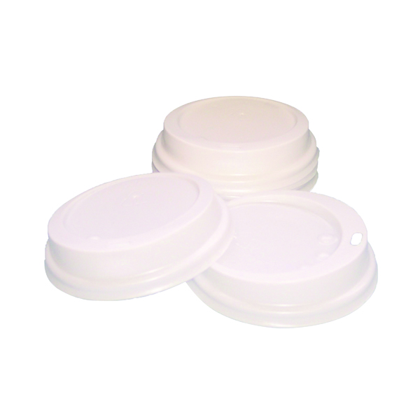 Caterpack White 25cl Paper Cup Sip Lids (100 Pack) AHWL80