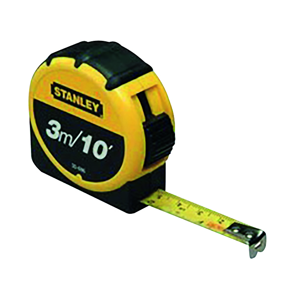 Stanley Retractable 3m Tape Measure With Belt Clip 0-30-686